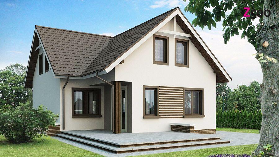 проект одноэтажного дома с мансардой фото