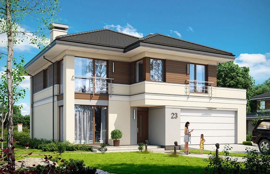 Проект дома со встроенным гаражом 121
