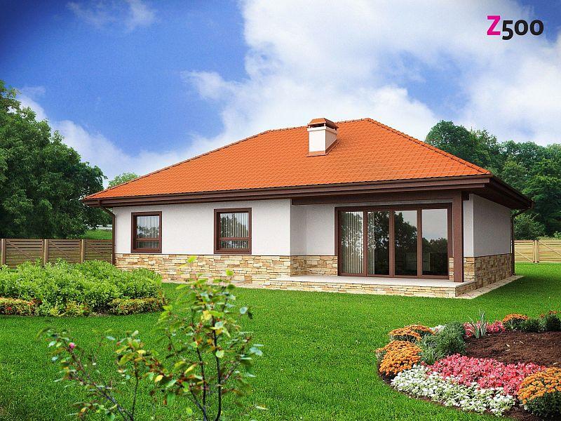 Маленький и функциональный одноэтажный дом, выгодный в строительстве и эксплуатации